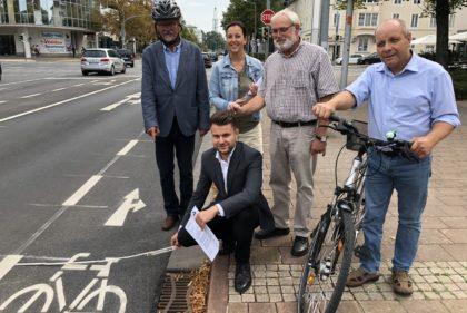 CDU fordert Korrektur der neuen Radwegmarkierung