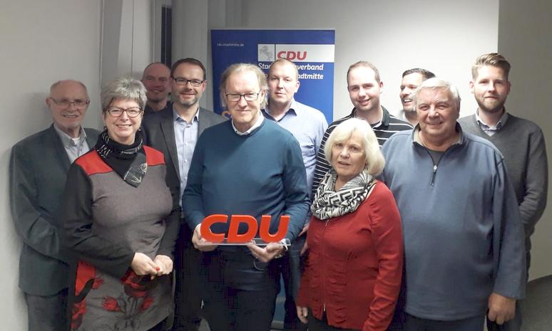 Der CDU Stadtbezirksverband Stadtmitte hat einen neuen Vorstand