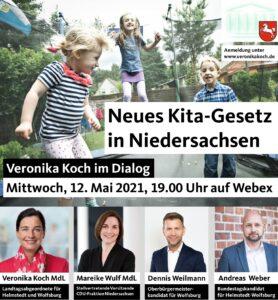 Landtagsabgeordnete Veronika Koch lädt zur online-Veranstaltung über die Kita-Gesetzesnovelle ein