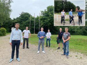 Almke/Neindorf: Dennis Weilmann und Andreas Weber zu Gast bei Fahrradtour durch die Dörfer
