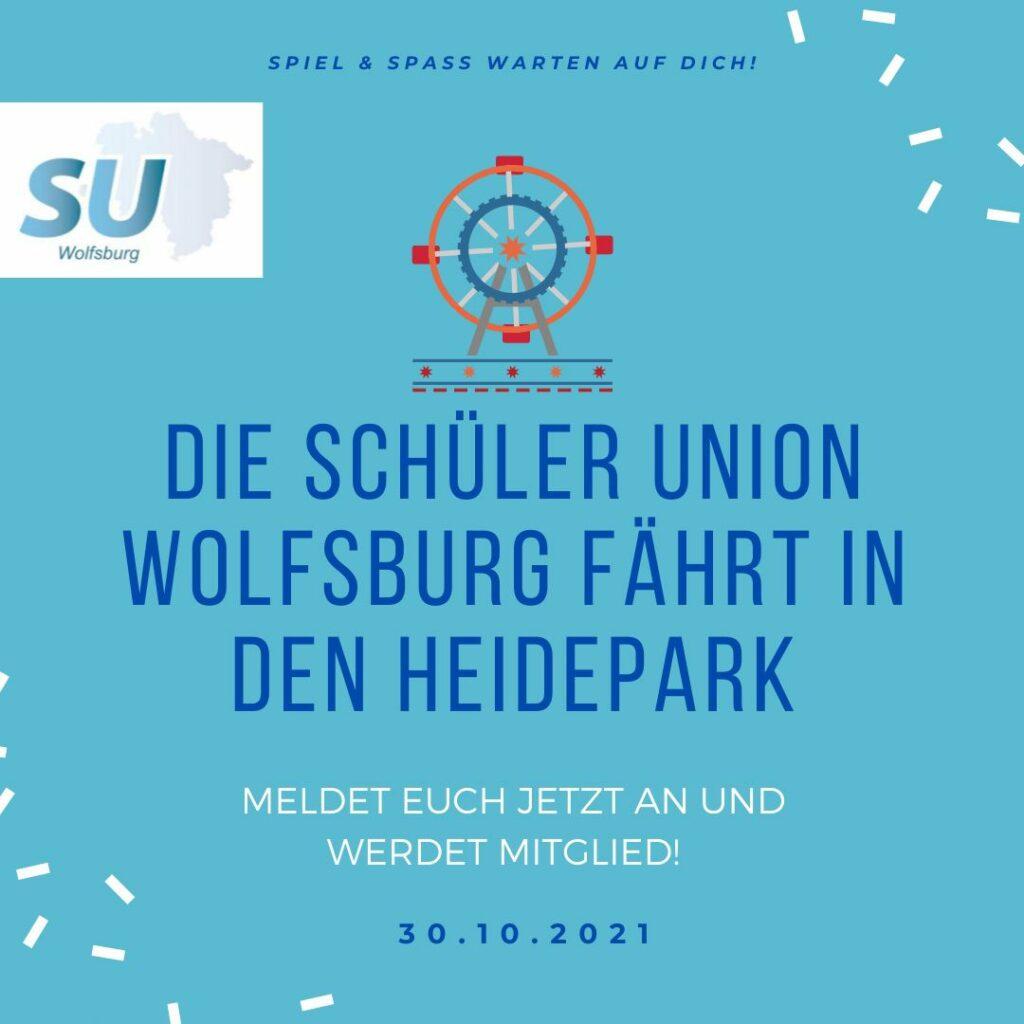 Schüler Union Wolfsburg fährt in den Heide-Park